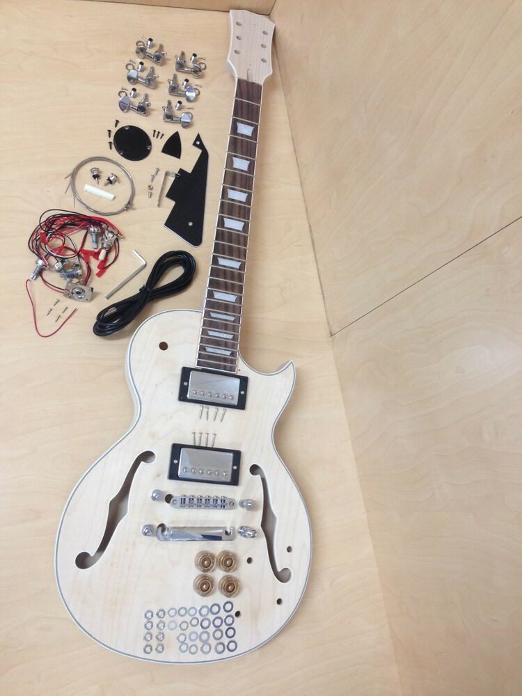 Best ideas about DIY Electric Guitar Kit . Save or Pin plete NO SOLDER DIY Kit LP Style Set Neck Semi Hollow Now.