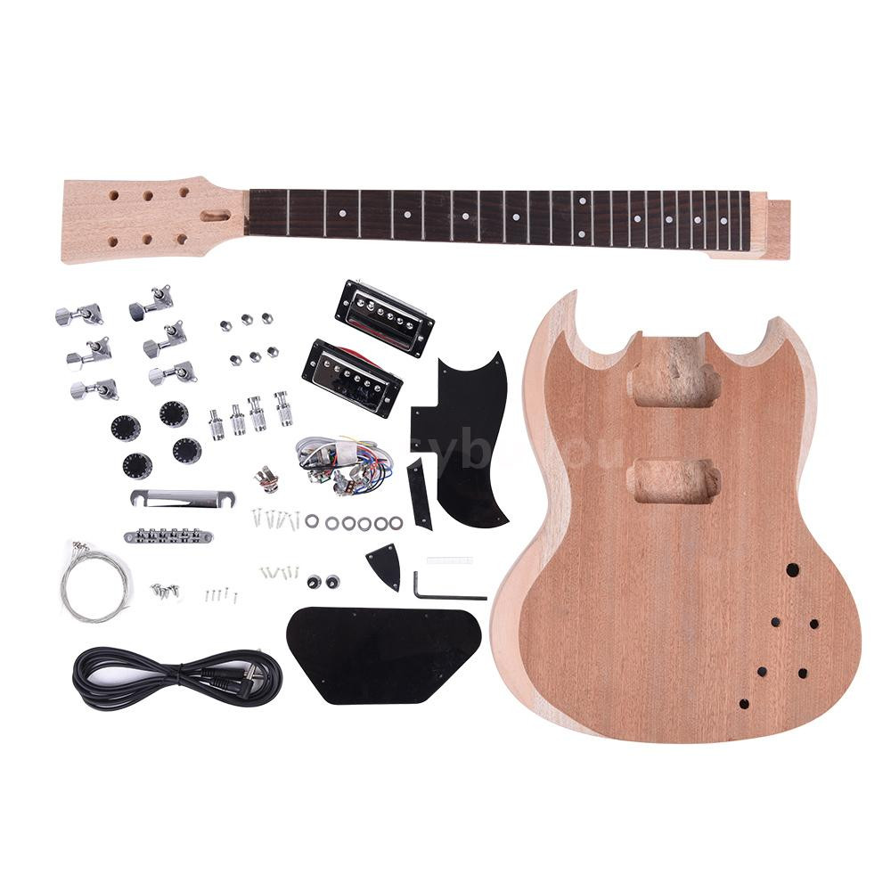 Best ideas about DIY Electric Guitar Kit . Save or Pin Unfinished DIY Electric Guitar Kit Mahogany Body Neck Now.