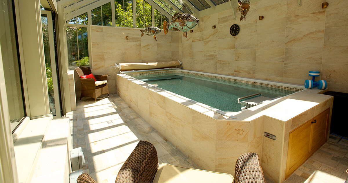 Best ideas about DIY Endless Pool . Save or Pin Sunroom Endless Pool Four Seasons Sunroom Pool Now.