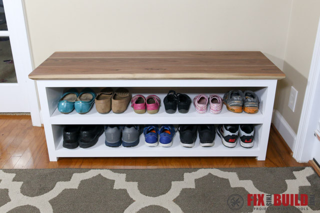 Best ideas about DIY Entryway Bench With Shoe Storage . Save or Pin DIY Entryway Shoe Storage Bench Now.