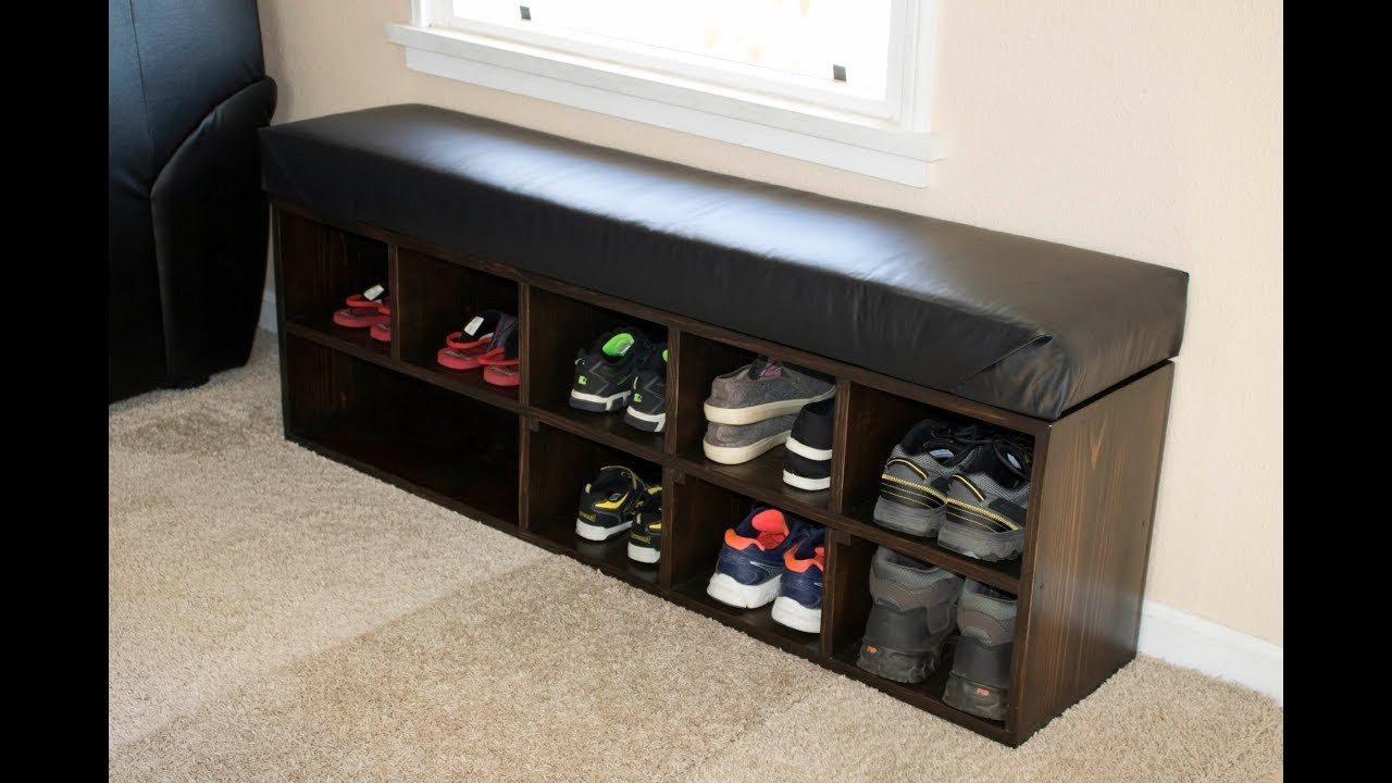 Best ideas about DIY Entryway Bench With Shoe Storage . Save or Pin DIY Shoe Storage Bench Now.