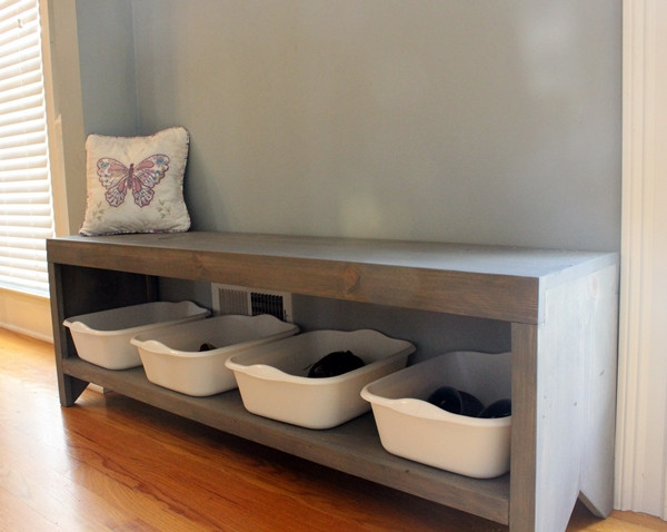 Best ideas about DIY Entryway Bench With Shoe Storage . Save or Pin 20 Interesting DIY Entryway Benches Ideas Now.