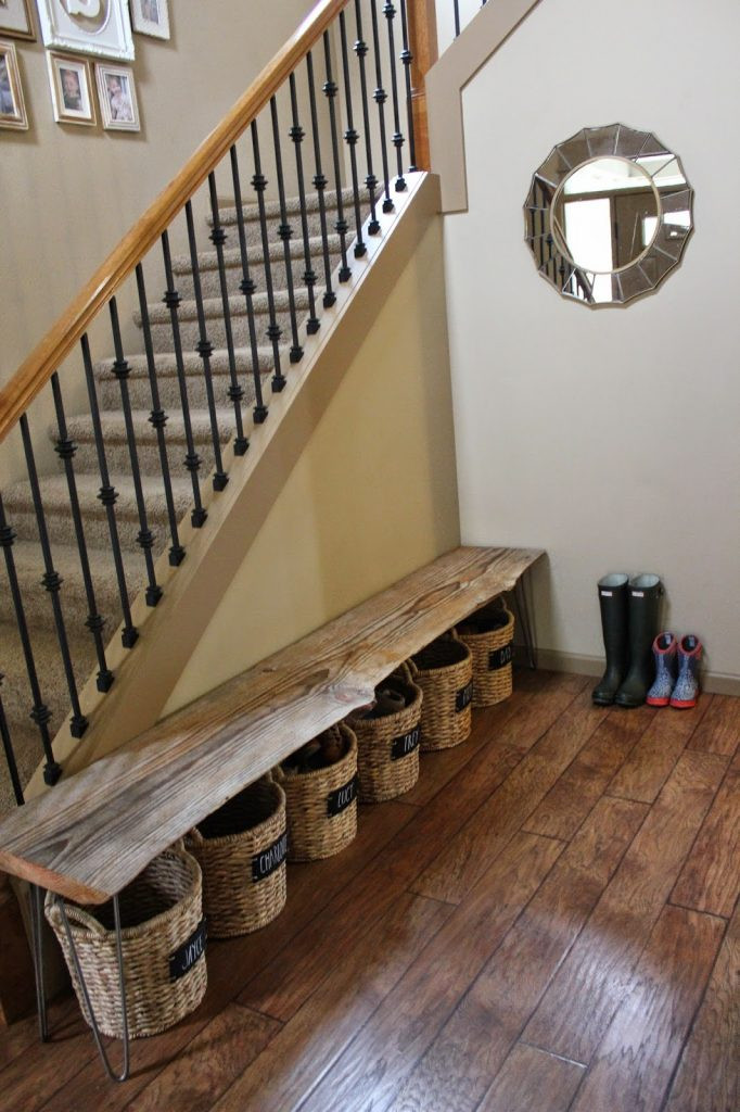 Best ideas about DIY Entryway Bench With Shoe Storage . Save or Pin 37 Space Saving Shoe Storage Ideas Homelovr Now.