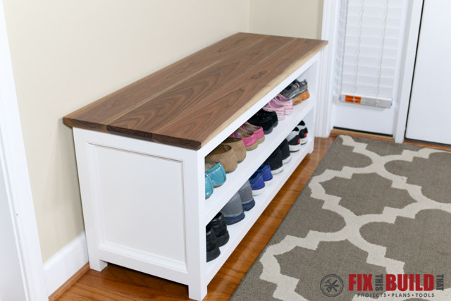 Best ideas about DIY Entryway Bench With Shoe Storage . Save or Pin Entryway Shoe Bench Now.