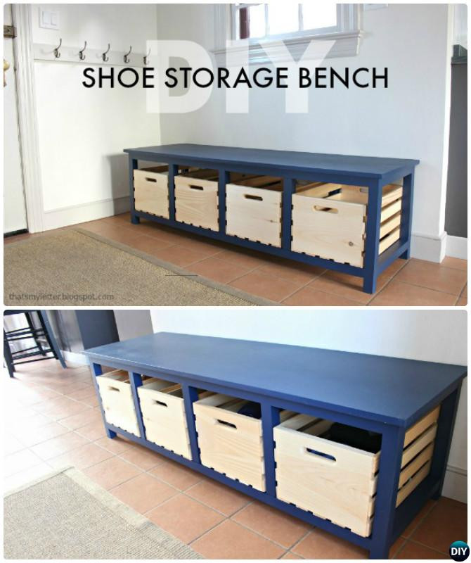 Best ideas about DIY Entryway Bench With Shoe Storage . Save or Pin 20 Best Entryway Bench DIY Ideas Projects [Picture Now.
