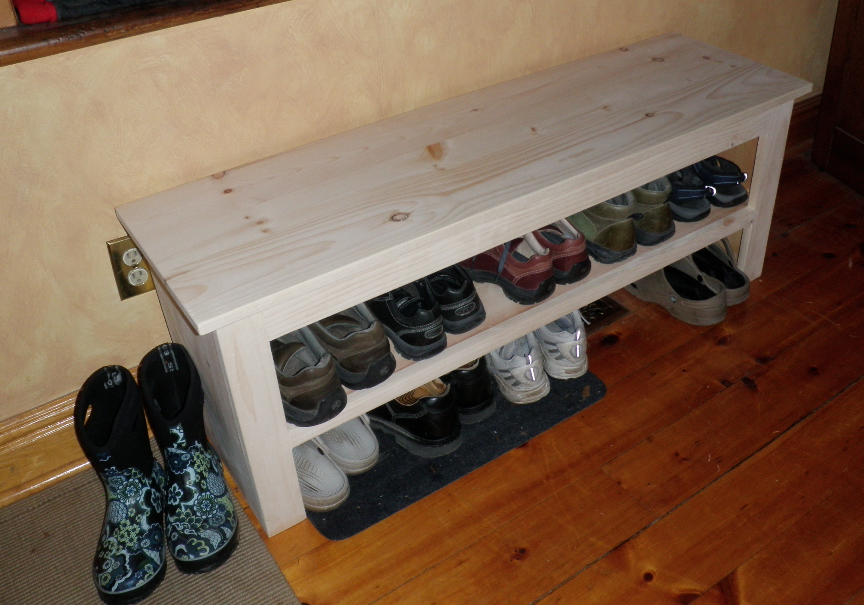 Best ideas about DIY Entryway Bench With Shoe Storage . Save or Pin Ana White Now.