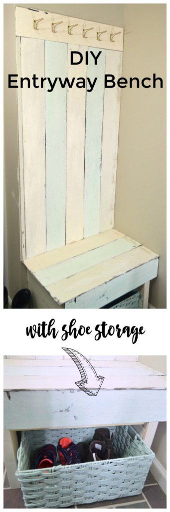 Best ideas about DIY Entryway Bench With Shoe Storage . Save or Pin Pallet Wood Entryway Bench Now.