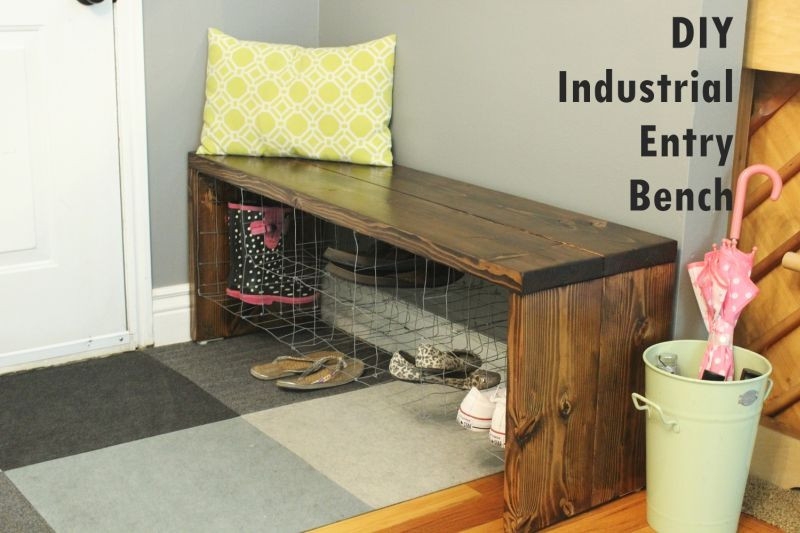 Best ideas about DIY Entryway Bench With Shoe Storage . Save or Pin DIY Industrial Entry Shoe Bench Now.