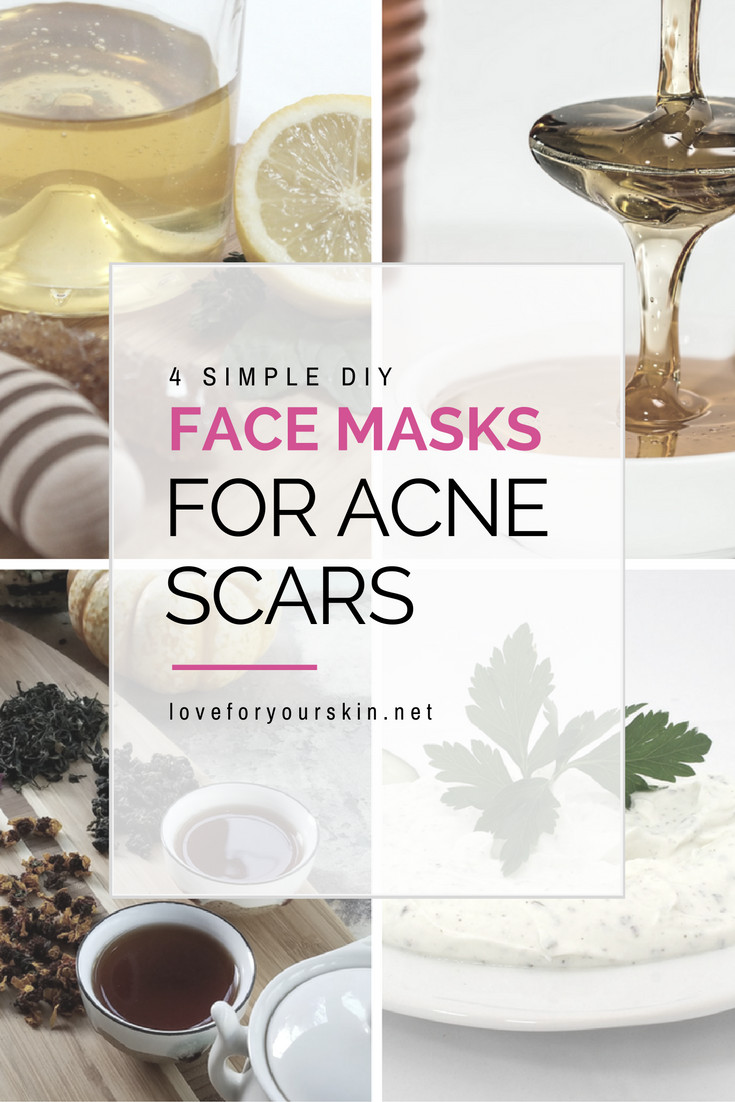 Best ideas about DIY Face Mask For Acne Scars . Save or Pin 4 Simple DIY Face Masks for Acne Scars Loveforyourskin Now.