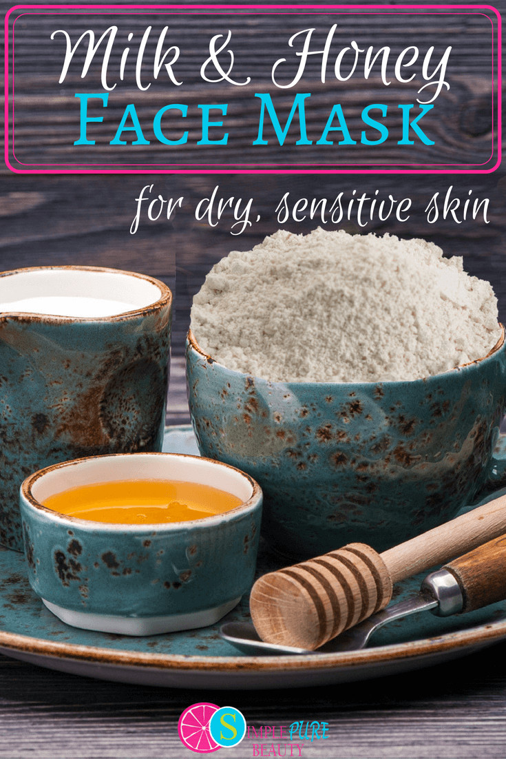 Best ideas about DIY Face Mask For Sensitive Skin . Save or Pin Milk and Honey Homemade Face Mask for Dry Sensitive Skin Now.