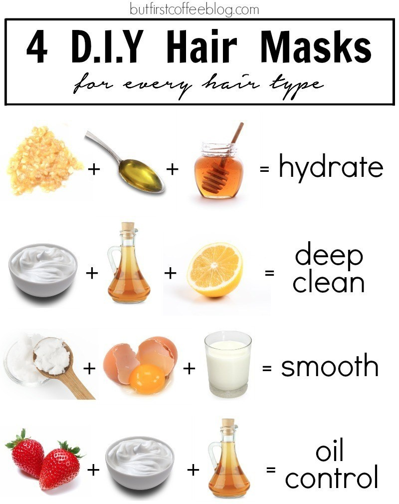 Best ideas about DIY Face Mask . Save or Pin 4 DIY Hair Masks for Every Hair Type But First Coffee Now.