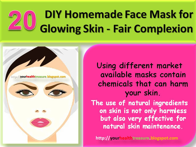 Best ideas about DIY Facial Mask For Glowing Skin . Save or Pin 20 DIY Homemade Face Mask for Glowing Skin Fair Now.