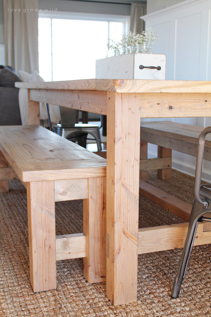 Best ideas about DIY Farmhouse Bench . Save or Pin DIY Farmhouse Table Love Grows Wild Now.