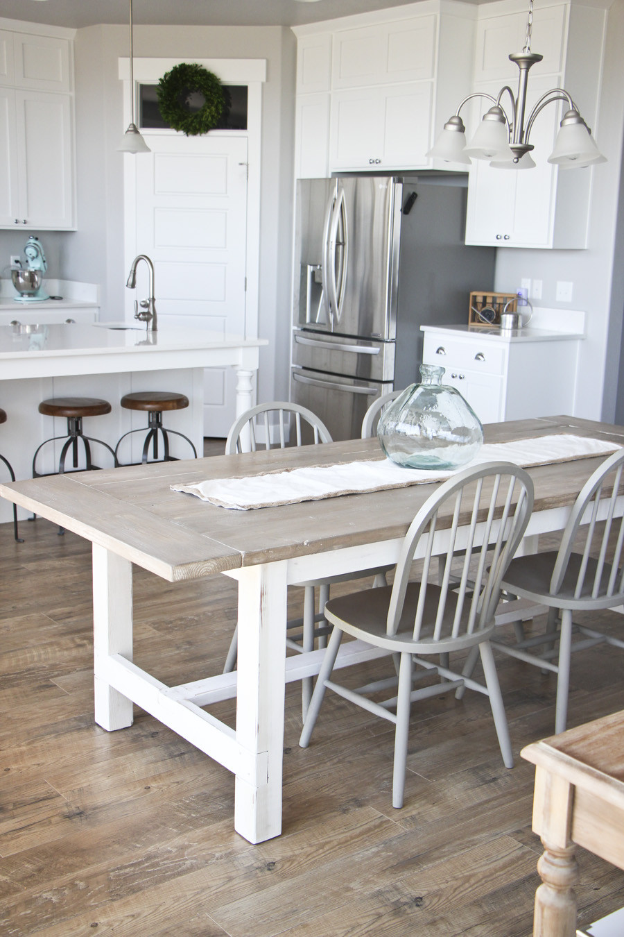 Best ideas about DIY Farmhouse Bench . Save or Pin DIY Farmhouse Table and Bench HoneyBear Lane Now.