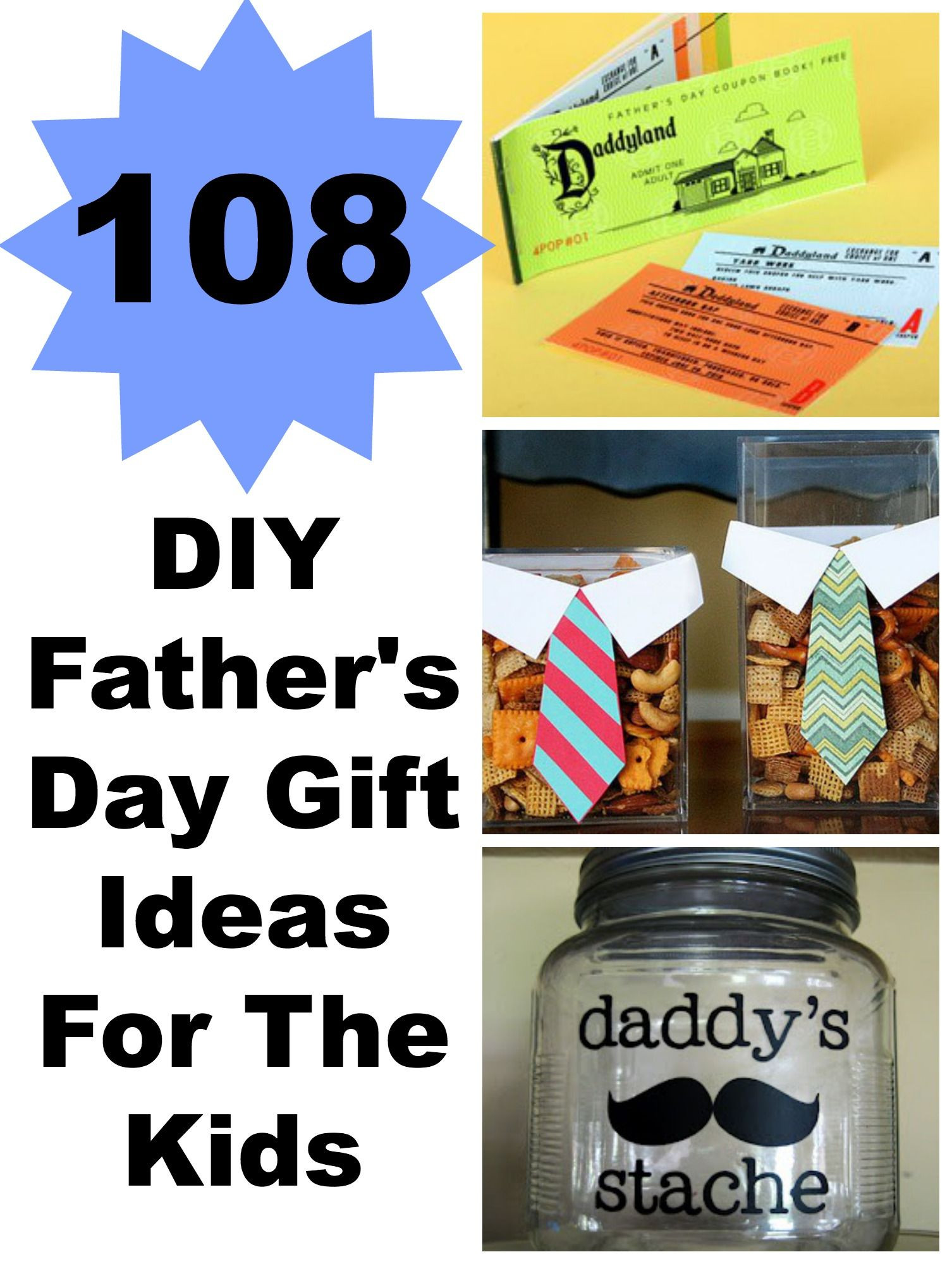 Best ideas about DIY Father'S Day Gifts From Kids . Save or Pin 108 DIY Father s Day Gift Ideas For The Kids Now.
