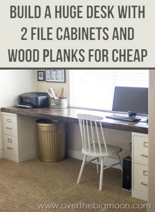 Best ideas about DIY File Cabinet Desk . Save or Pin 20 fice Crafts and Hacks The Crafty Blog Stalker Now.