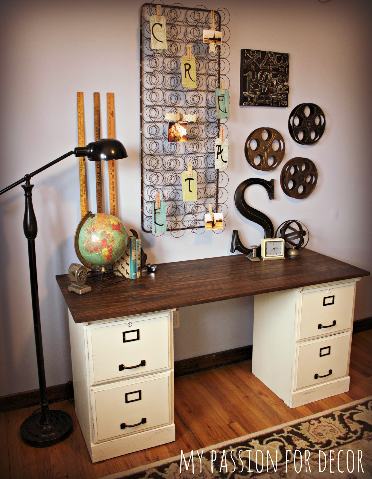 Best ideas about DIY File Cabinet Desk . Save or Pin My Passion For Decor My Pottery Barn Desk Hack Now.
