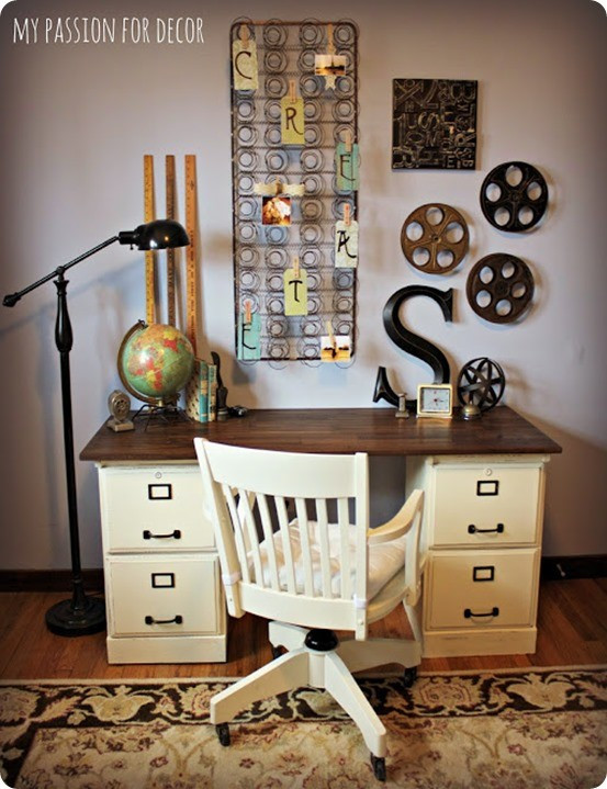 Best ideas about DIY File Cabinet Desk . Save or Pin Goodwill File Cabinets to DIY Desk Now.