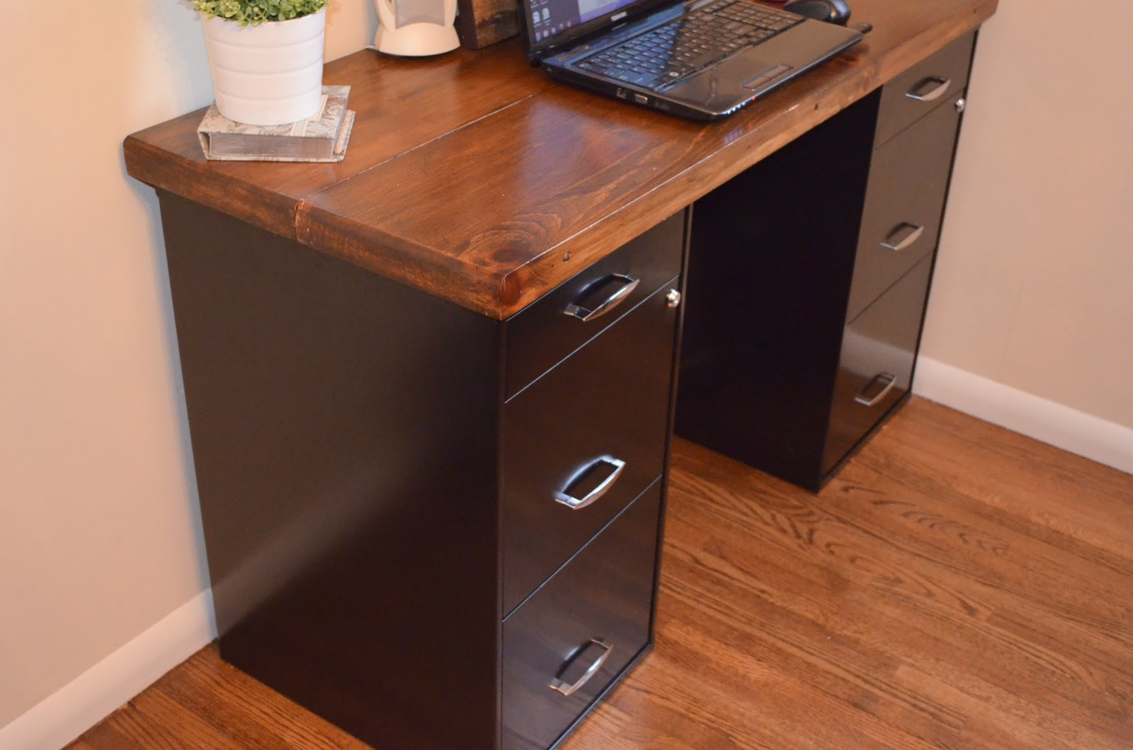 Best ideas about DIY File Cabinet Desk . Save or Pin An Inviting Home A DIY Desk Now.