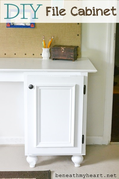 Best ideas about DIY File Cabinet Desk . Save or Pin DIY File Cabinet for my fice Beneath My Heart Now.
