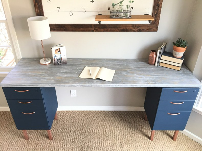 Best ideas about DIY File Cabinet Desk . Save or Pin Ugly Home fice Makeover Part 5 The DIY File Cabinet Now.