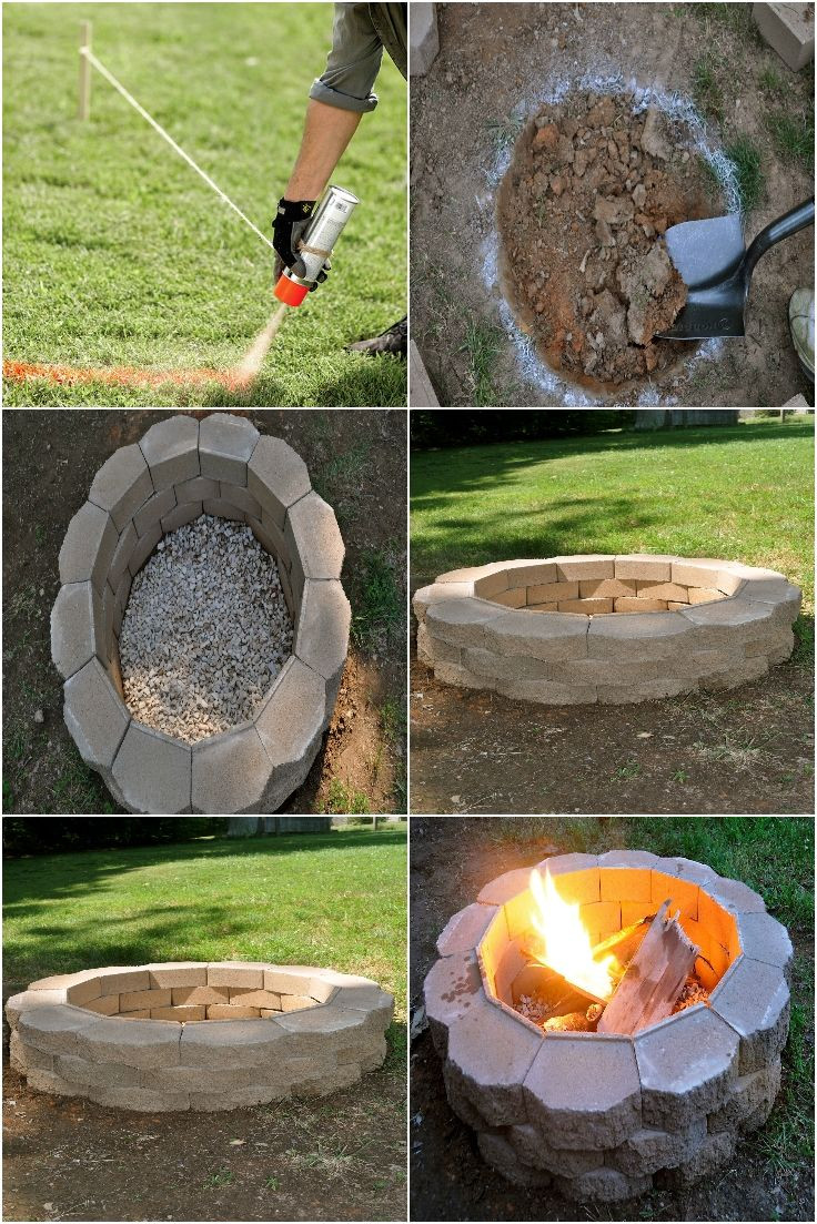 Best ideas about DIY Fire Pit Pinterest . Save or Pin diy backyard fire pit Outside Ideas Now.