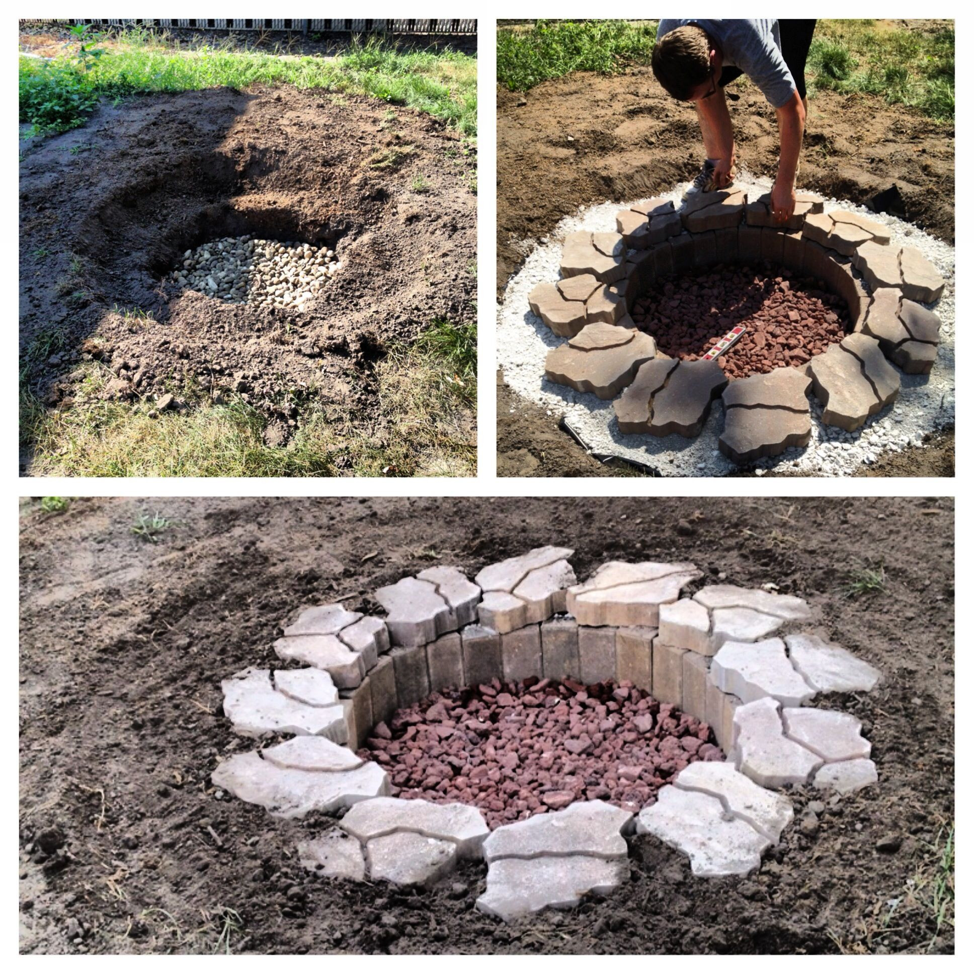 Best ideas about DIY Fire Pit Pinterest . Save or Pin DIY in ground fire pit For the Home Now.