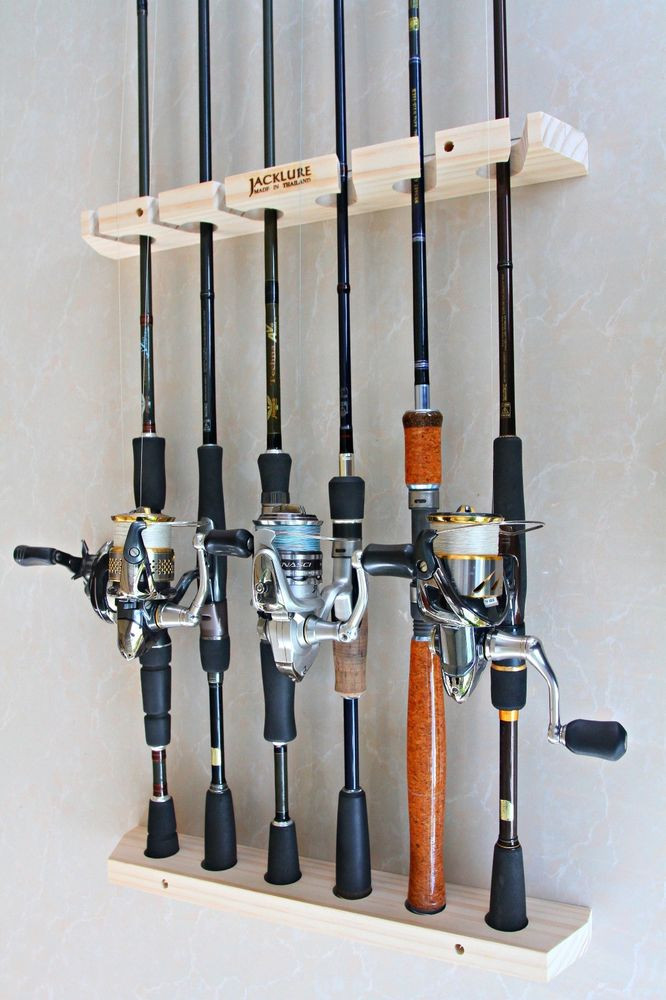 Best ideas about DIY Fishing Pole Rack . Save or Pin Handmade Fishing rod racks wall type of 6 vertical Now.