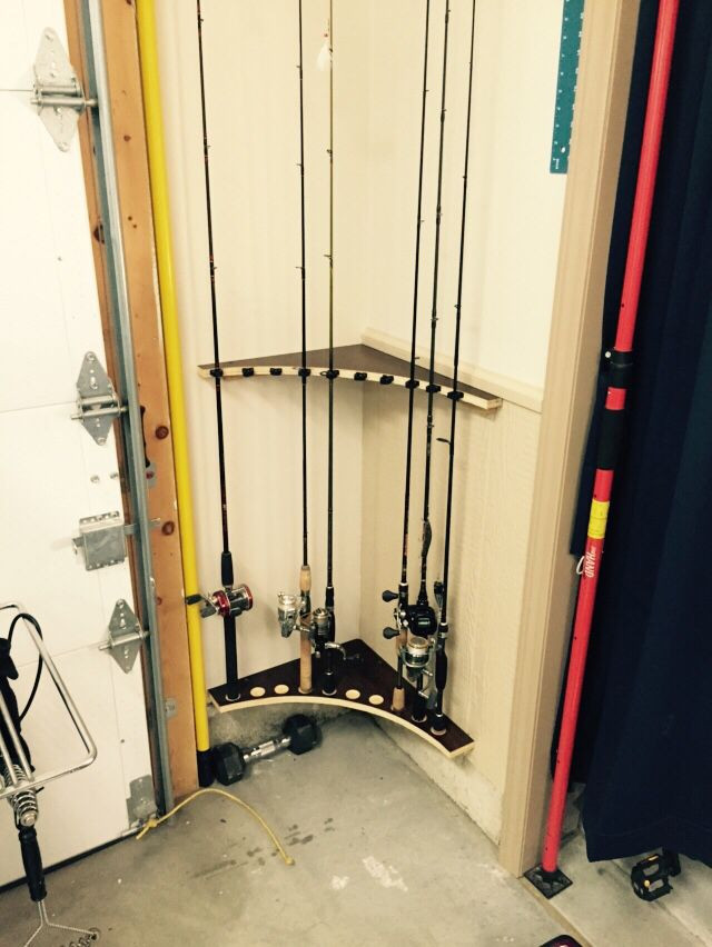 Best ideas about DIY Fishing Pole Rack . Save or Pin Fishing Pole rack from left over cabinet lumber Now.