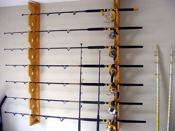 Best ideas about DIY Fishing Pole Rack . Save or Pin Wall Mount Fishing Pole Holder Can TOTALLY DIY with Now.