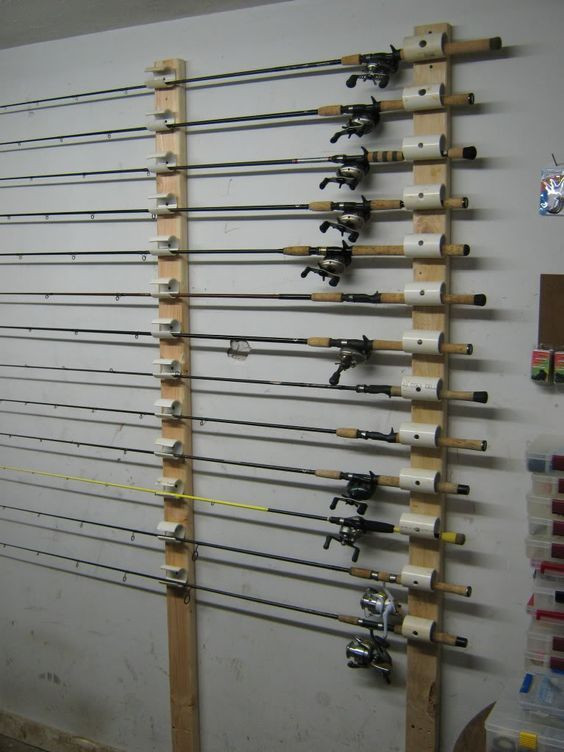 Best ideas about DIY Fishing Pole Rack . Save or Pin Ceiling Mounted Rod Holder DIY ideas Now.