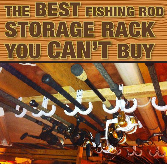 Best ideas about DIY Fishing Rod Storage . Save or Pin Fishing Rod Rack on Pinterest Now.