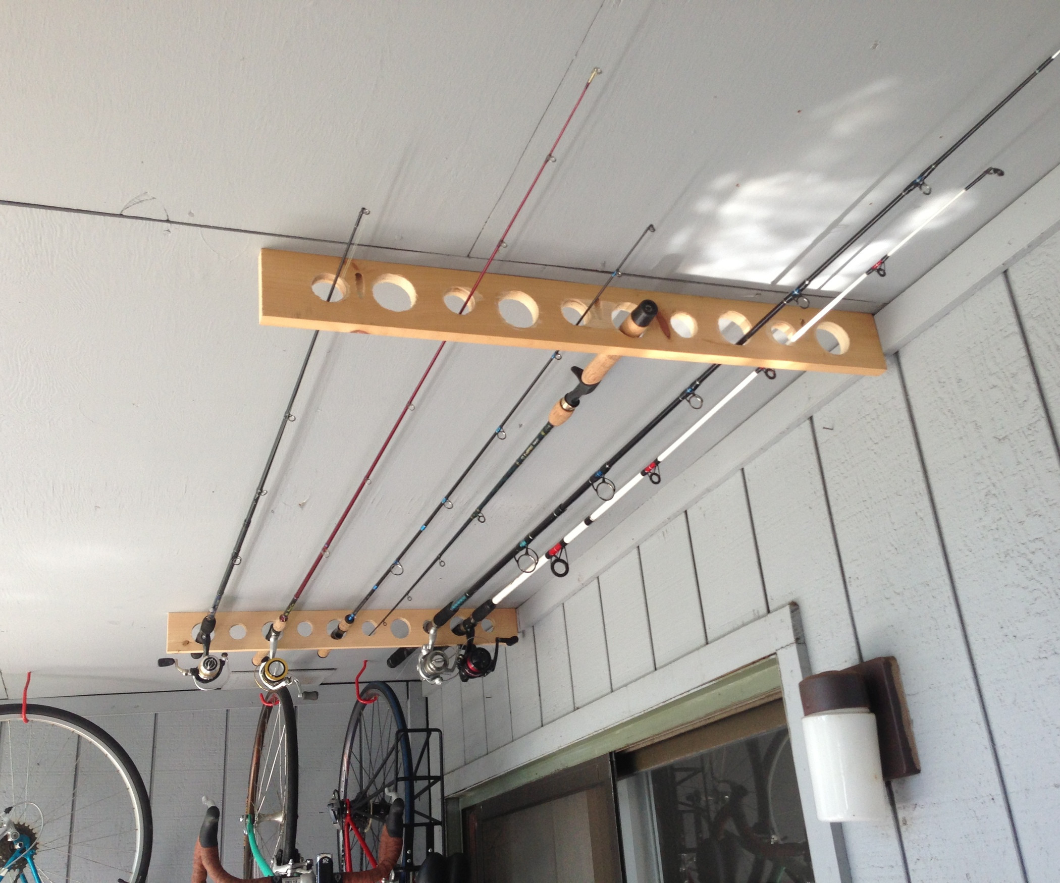 Best ideas about DIY Fishing Rod Storage . Save or Pin Fishing Pole Storage Great for Apartment Shed or Garage Now.