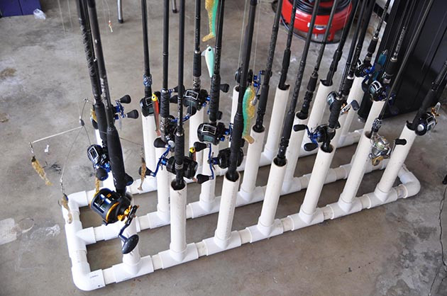 Best ideas about DIY Fishing Rod Storage . Save or Pin DIY Rod Racks for the Garage Diy Fishing Rod Holders For Now.