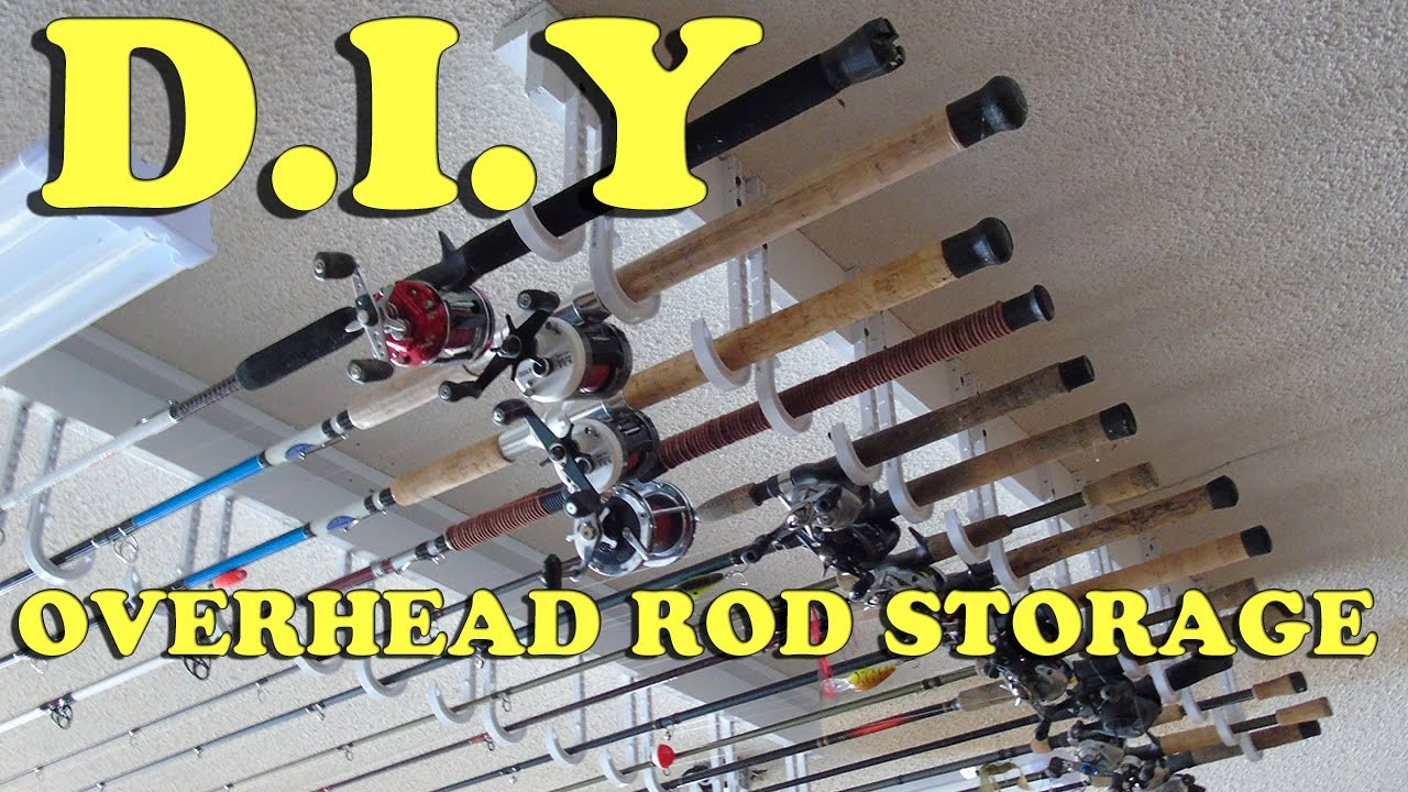 Best ideas about DIY Fishing Rod Storage . Save or Pin DIY How to Build a Cheap Easy Overhead Fishing Rod Now.