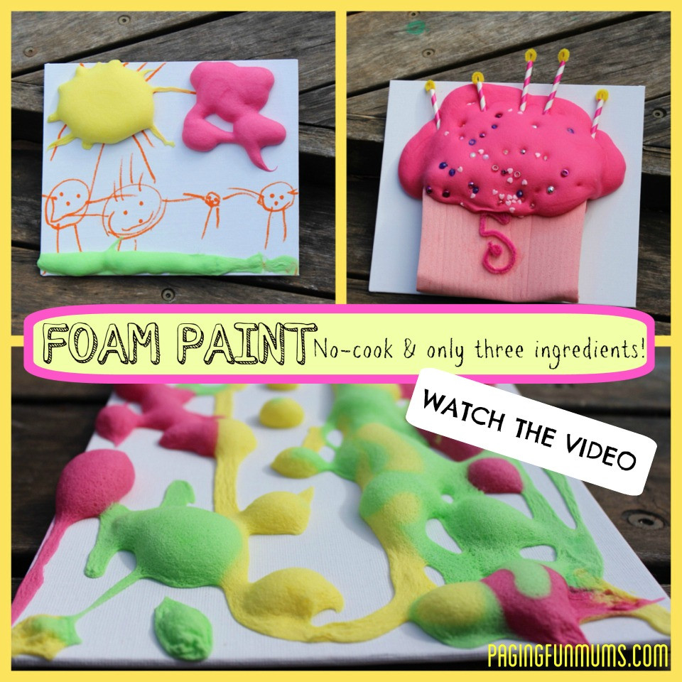 Best ideas about DIY Foam Paint . Save or Pin DIY Foam Paint new video tutorial Now.