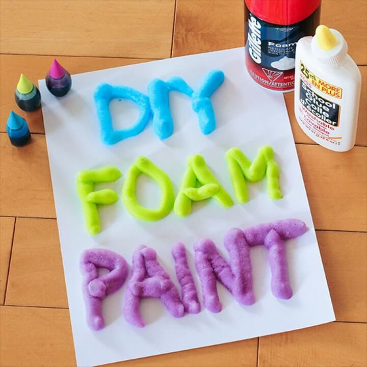 Best ideas about DIY Foam Paint . Save or Pin 20 Easy Weekend DIY Projects For Girls Now.