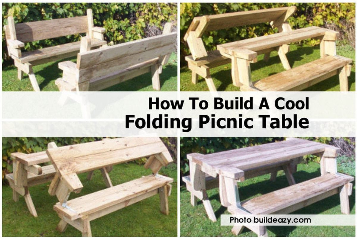 Best ideas about DIY Folding Picnic Table . Save or Pin How To Build A Cool Folding Picnic Table Now.