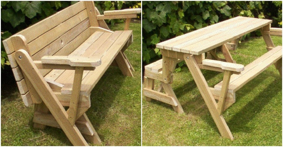 Best ideas about DIY Folding Picnic Table . Save or Pin How to build a DIY 2 in 1 convertible folding bench and Now.