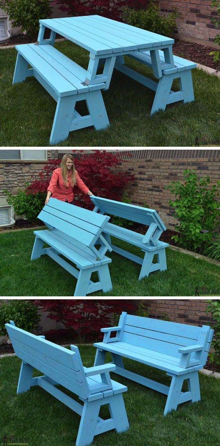 Best ideas about DIY Folding Picnic Table . Save or Pin So Creative 14 DIY Outdoor Weekend Projects Now.