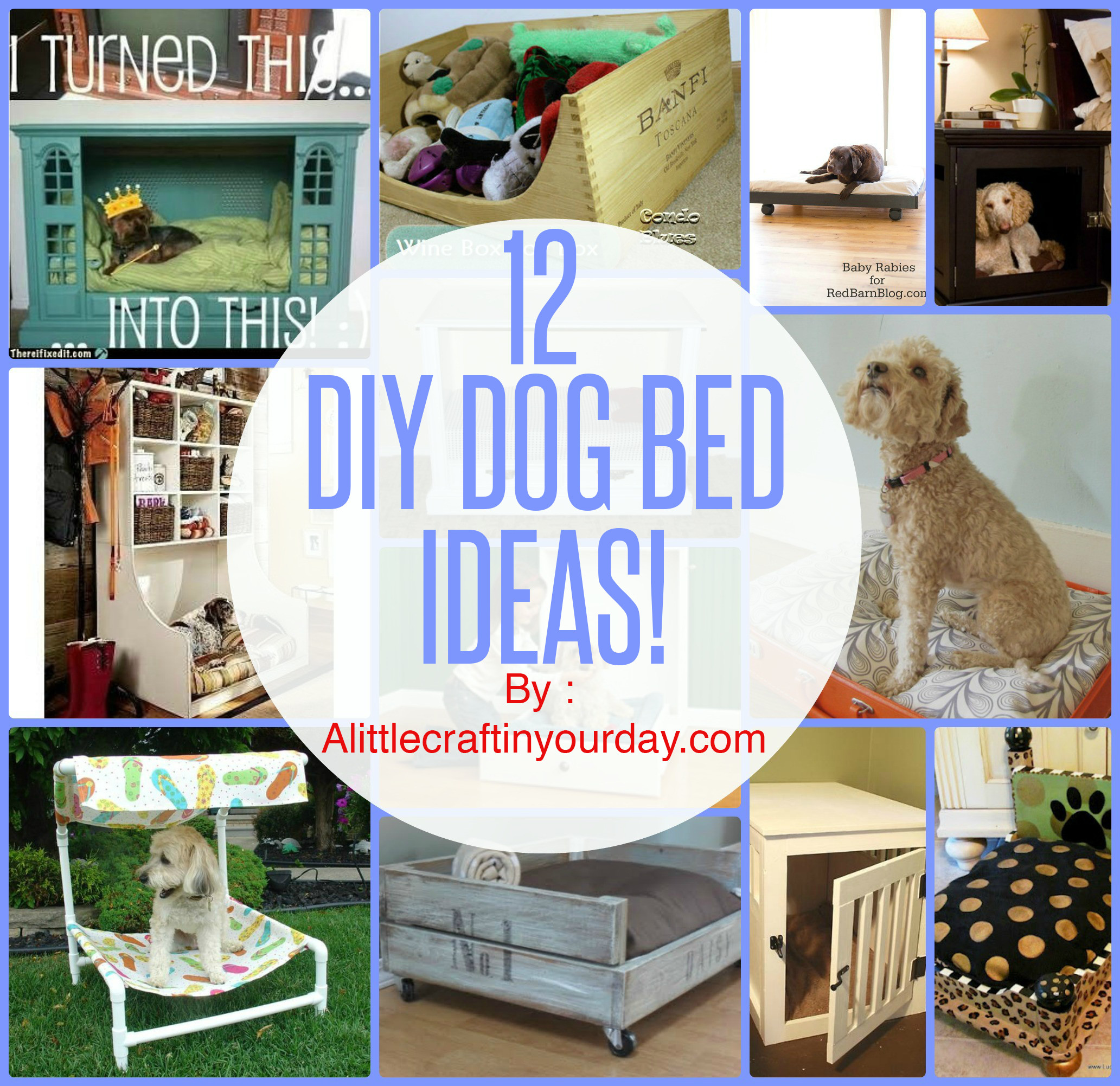 Best ideas about DIY For Dog . Save or Pin 12 DIY Dog Beds A Little Craft In Your Day Now.