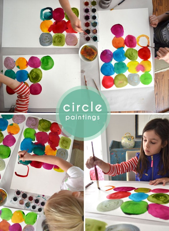Best ideas about DIY For Kids . Save or Pin Funny DIY For Kids Watercolor Circle Paintings Now.