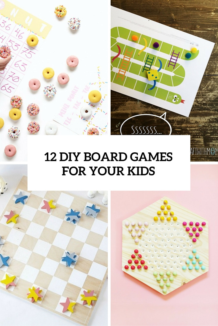 Best ideas about DIY For Kids . Save or Pin 12 Easy DIY Board Games To Have Fun With Your Kids Now.