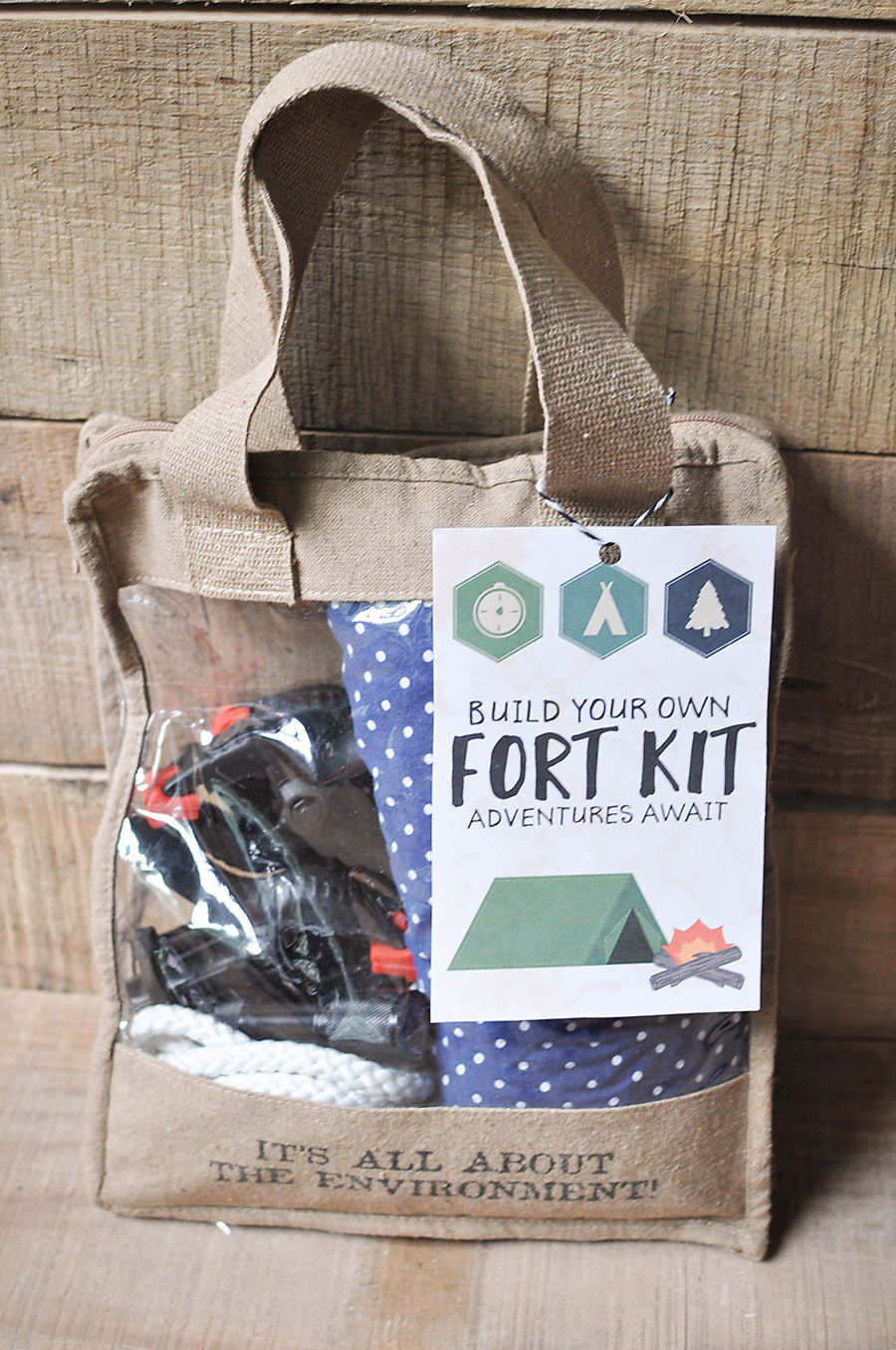 Best ideas about DIY Fort Kit . Save or Pin DIY Fort Kit with a Free Printable Gift Tag Our Now.