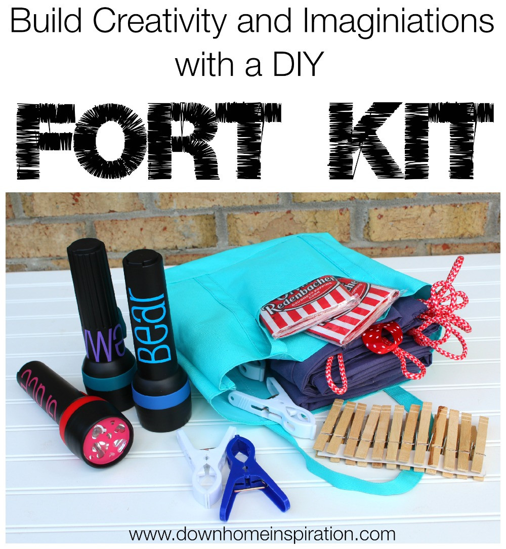 Best ideas about DIY Fort Kit . Save or Pin Build a fun Summer with a DIY Fort Kit Down Home Inspiration Now.