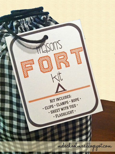 Best ideas about DIY Fort Kit . Save or Pin MD School Mrs DIY Fort Kit Now.