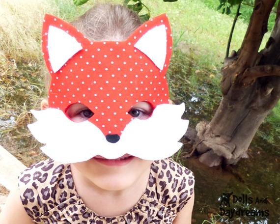 Best ideas about DIY Fox Mask . Save or Pin Items similar to DIY Fox Mask Tail Set PDF Pattern Kids Now.