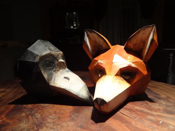 Best ideas about DIY Fox Mask . Save or Pin DIY Halloween masks fox mask bird mask Instant Download Now.