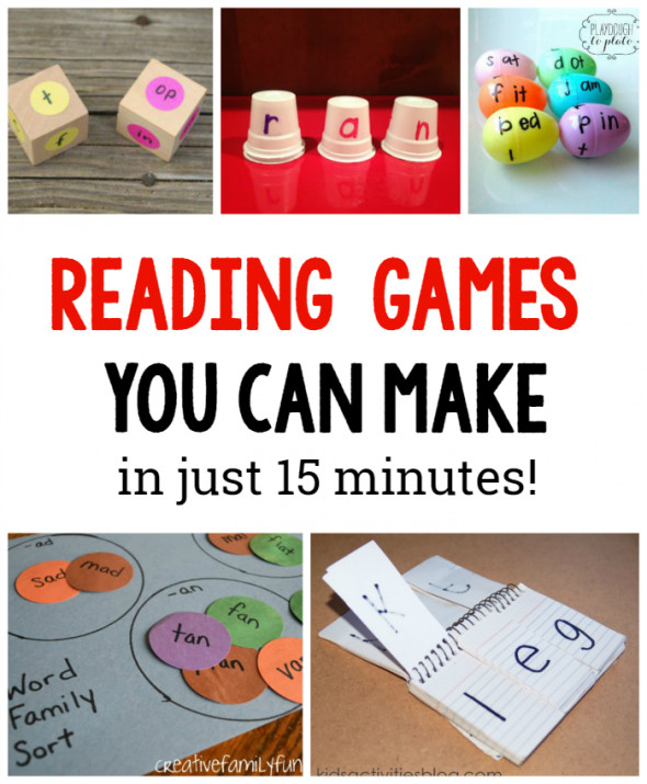 Best ideas about DIY Games For Kids . Save or Pin 10 DIY Reading games for kids The Measured Mom Now.