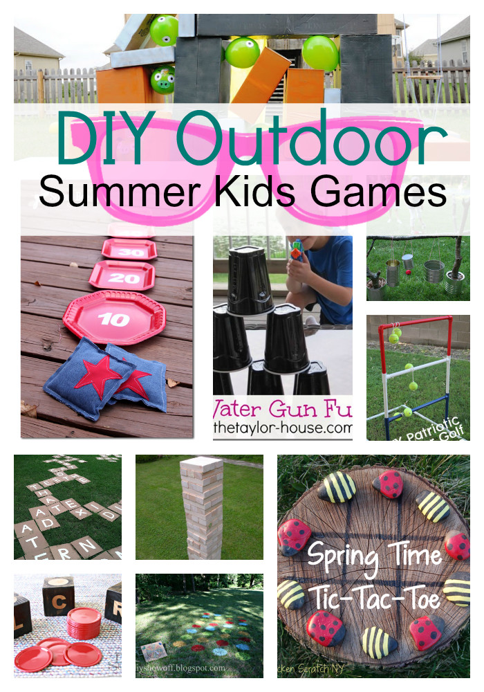 Best ideas about DIY Games For Kids . Save or Pin DIY Outdoor Summer Kids Games s and Now.